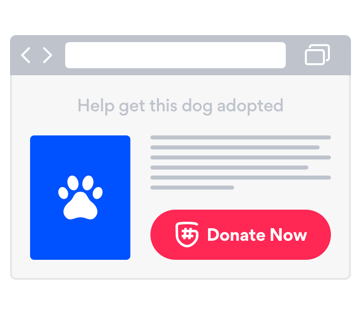 A better donate button